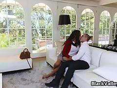 Big tit ebony is the double date winner