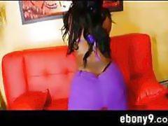 Thick Ebony Butt In Purple Pants