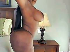 Big butt and big tits ebony Victoria Cakes gets screwed hard