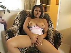 Hot Horny Ebony Girl Squirts Fingering Herself