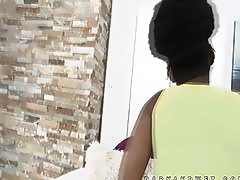 Super sexy black african teen teases