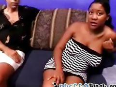 Pregnant tart with big nipples takes two big white dicks