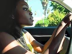 Pretty ebony driver Osa Lovely fucking hard