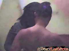 African lesbians Natasha & Maya finger their pussies in doggystyle
