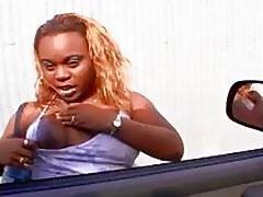 Ebony street whore picked up and ready to fuck
