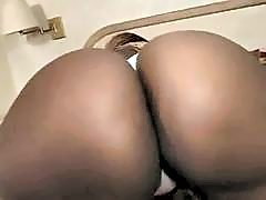 Black whore with big oiled butt takes ebony cock and hot fucking.