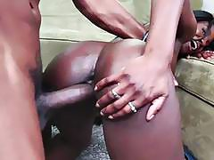 Kays Black Booty Gets Creamed As She Rides Her Boyfriend